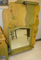 TOLL PAINTED 5 PIECE ANTIQUE BEDROOM SET - 5
