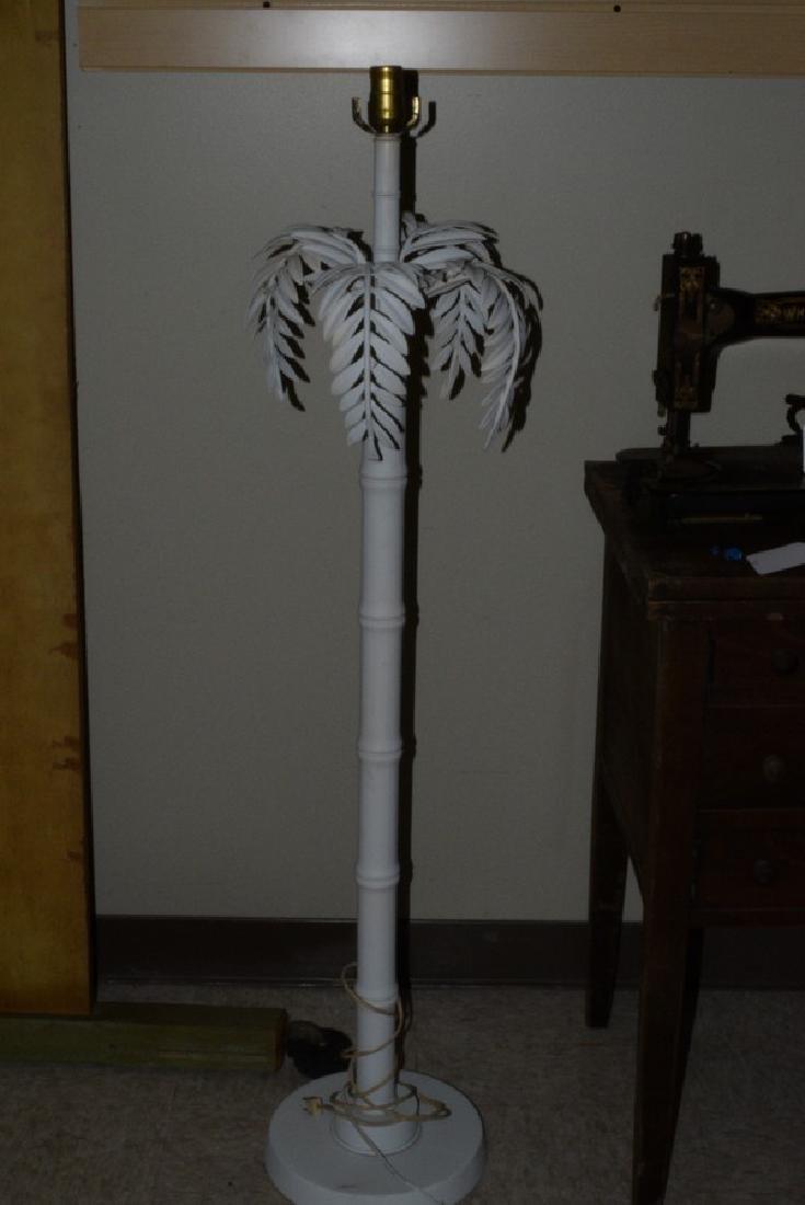 METAL & WOOD FLOOR LAMP