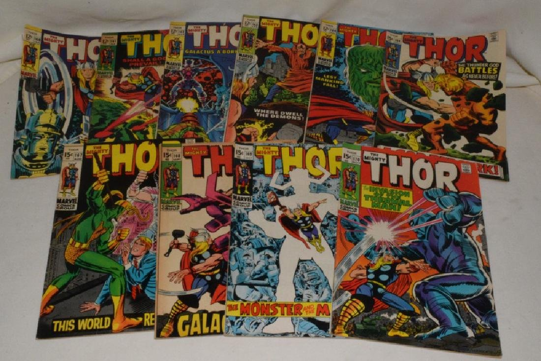 1969 THE MIGHT THOR COMIC BOOKS