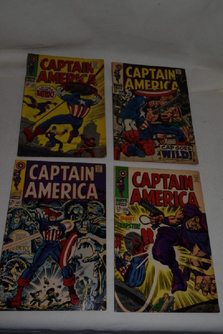 4 VINTAGE CAPTAIN AMERICA COMIC BOOKS