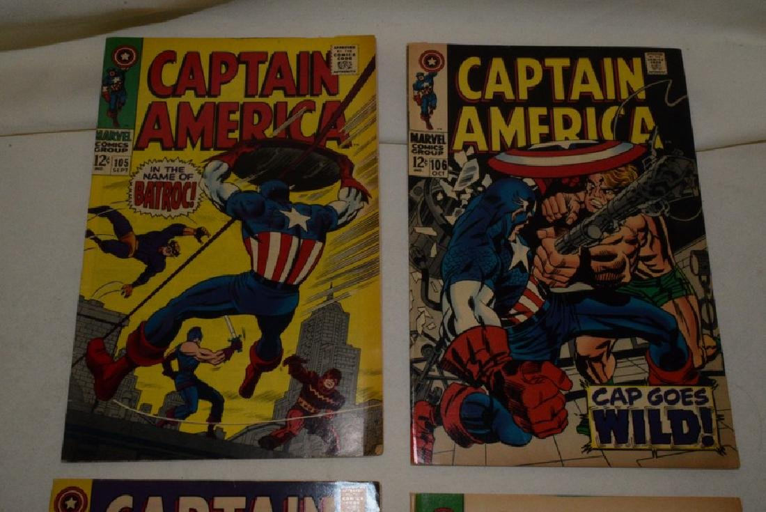 4 VINTAGE CAPTAIN AMERICA COMIC BOOKS - 2
