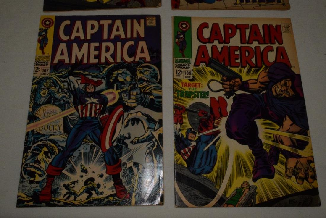 4 VINTAGE CAPTAIN AMERICA COMIC BOOKS - 3
