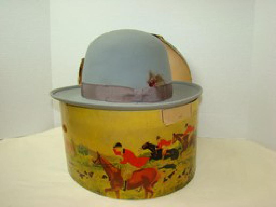 ROYAL STETSON VINTAGE GREY HAT WITH  BOX AND FORM