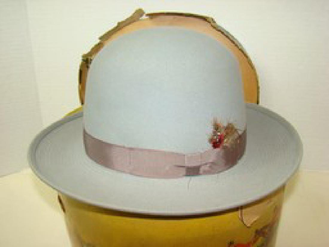 ROYAL STETSON VINTAGE GREY HAT WITH  BOX AND FORM - 2
