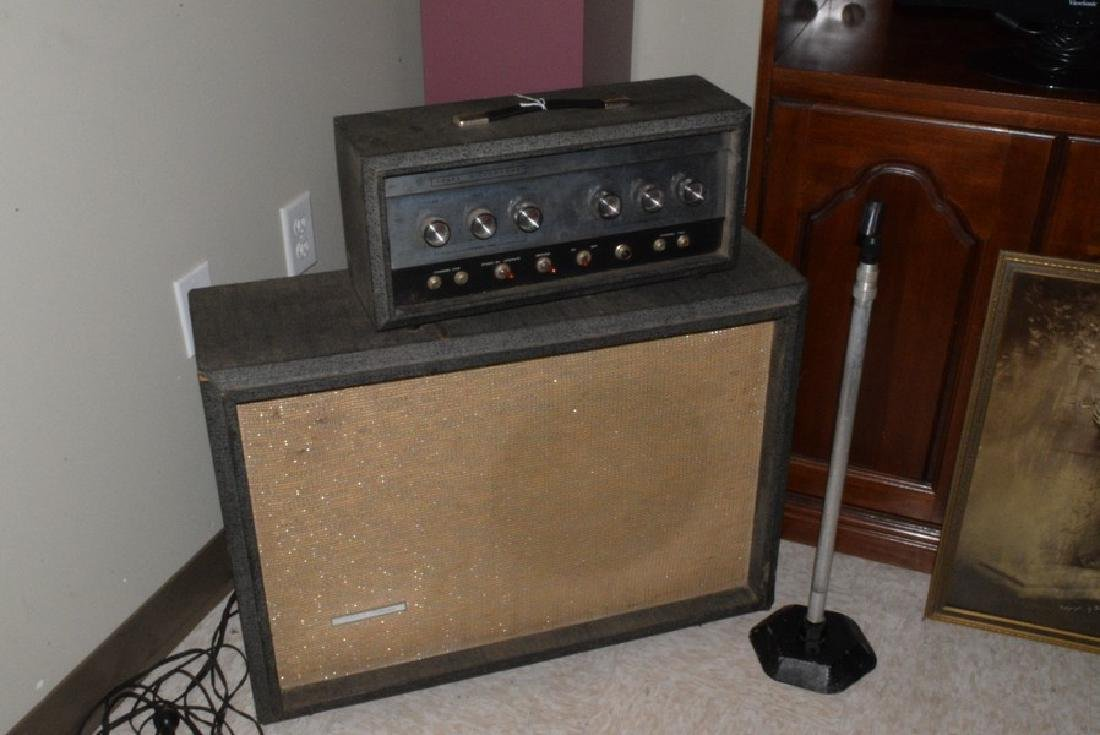 VINTAGE SEARS SILVER TONE AMP
