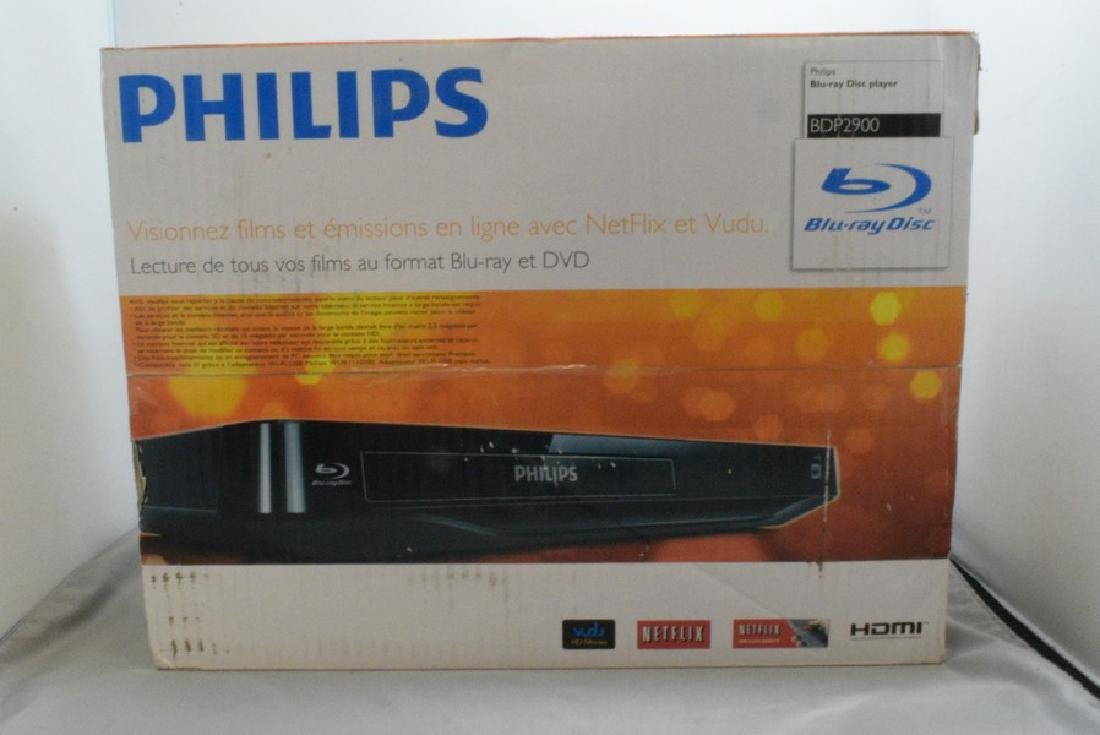 NIB PHILIPS BDP2900 BLU-RAY DISC PLAYER - 2