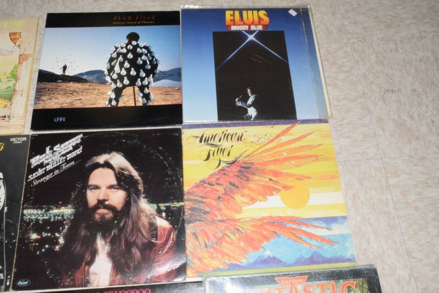11 ROCK AND POP RECORD ALBUMS - ELVIS - ELTON JOHN - 3