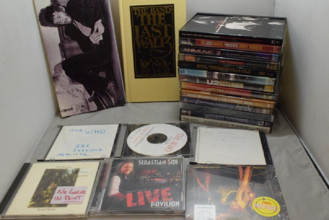 BOX - VARIOUS MUSIC DVD'S AND VIDEOS - TOM PETTY -