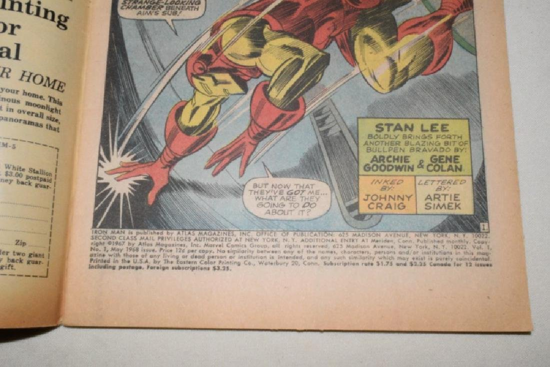 NO 1 MAY 1968 THE INVINCIBLE IRON MAN - 3