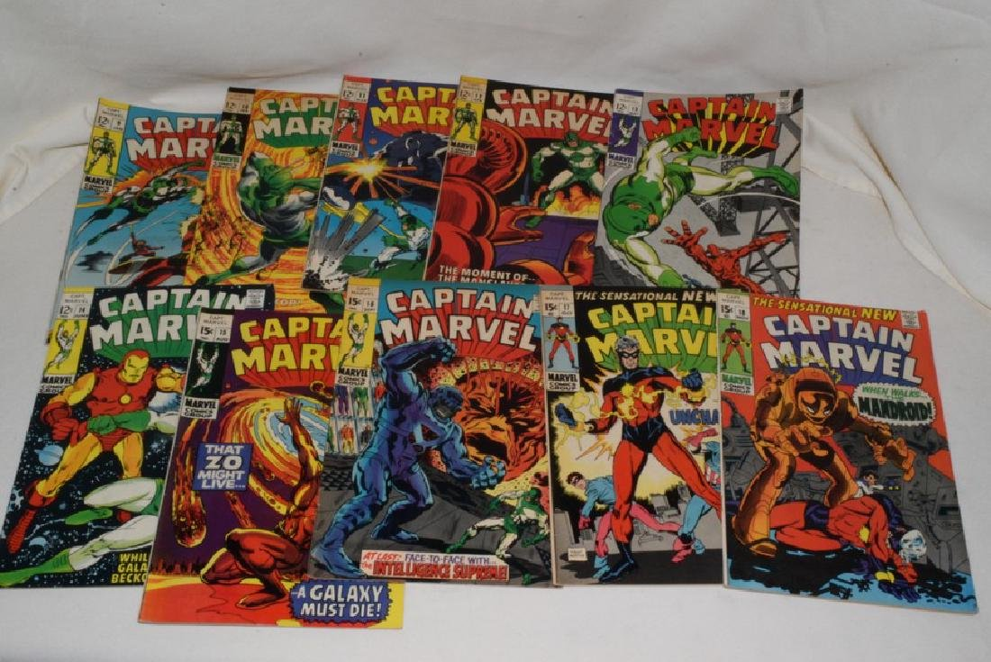 1969 ISSUES 9-18 MARVEL COMICS CAPTAIN MARVEL