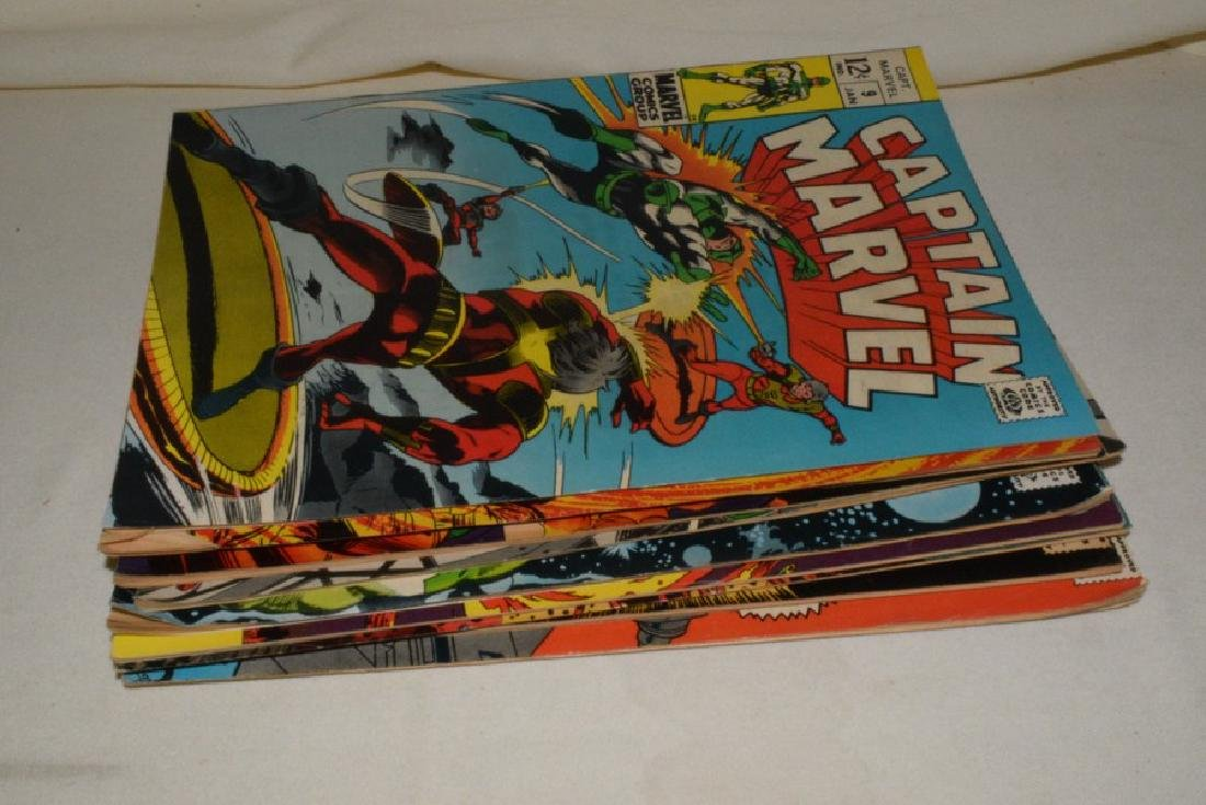 1969 ISSUES 9-18 MARVEL COMICS CAPTAIN MARVEL - 9