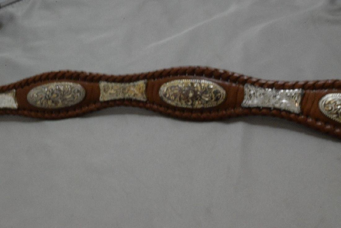 BOX -- HAND TOOLED LEATHER BELT WITH NATIVE AMERICAN - 4