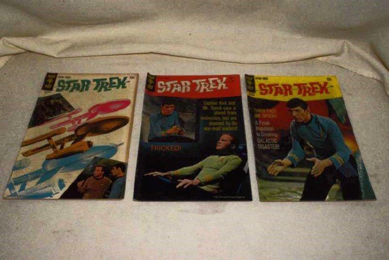 3 1960'S GOLD KEY STAR TREK COMICS