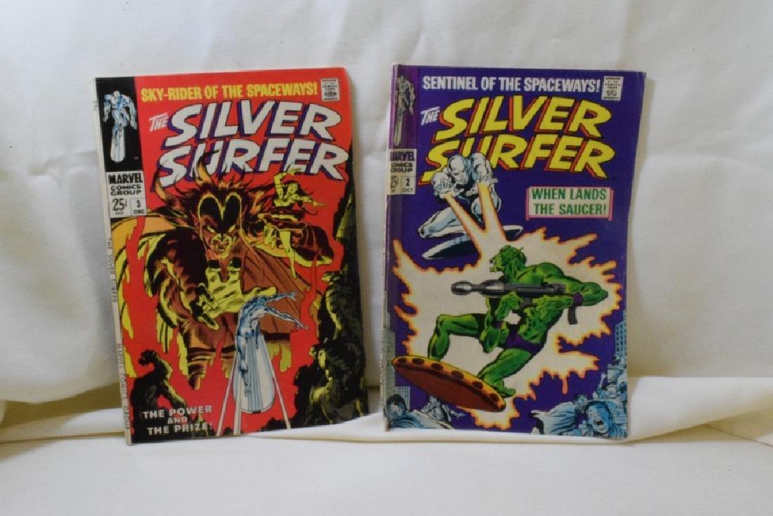 VINTAGE SILVER SURFER MARVEL COMIC BOOKS