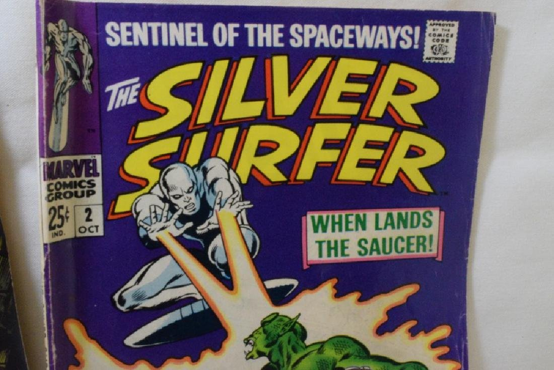 VINTAGE SILVER SURFER MARVEL COMIC BOOKS - 4