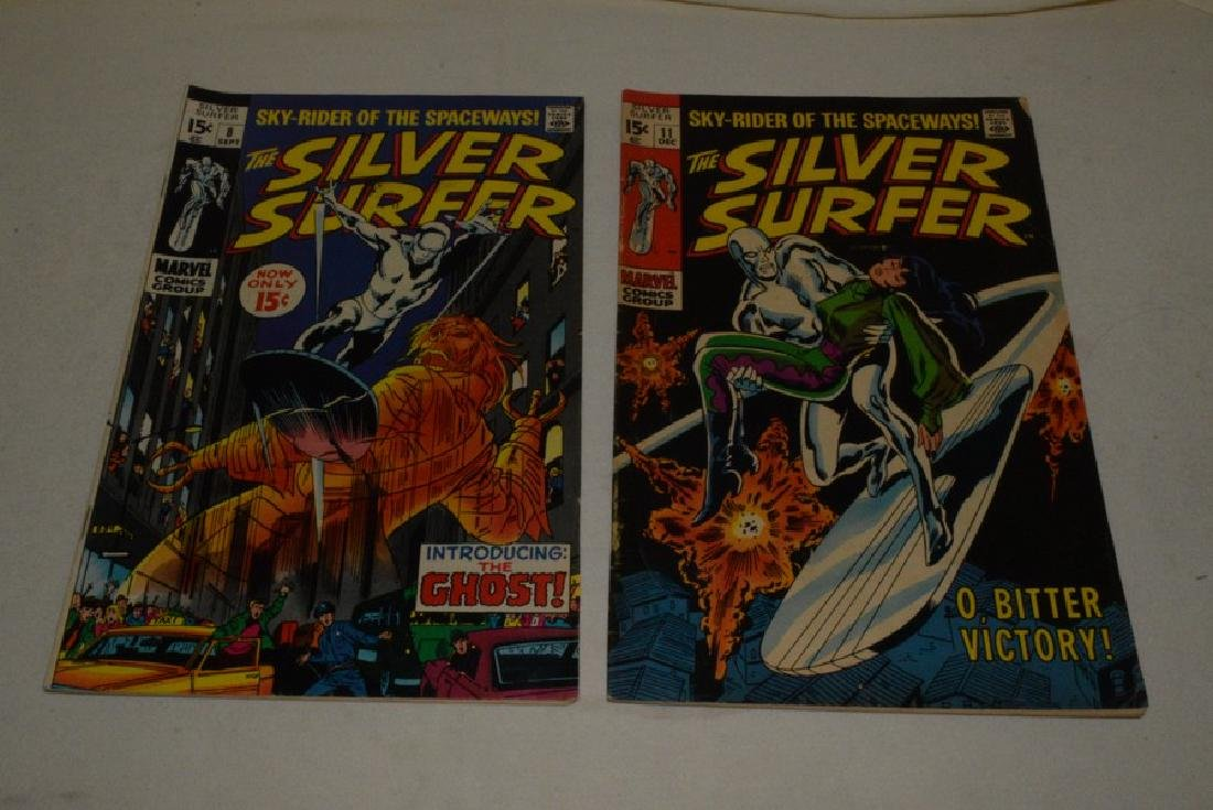 2 SILVER SURFER COMIC BOOKS BY MARVEL