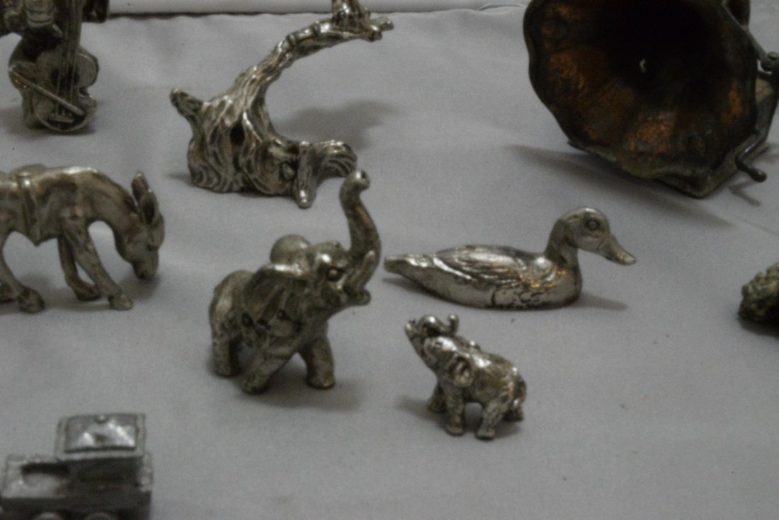 17 PEWTER AND COPPER MINIATURES - OLD WEST - ANIMA - 3