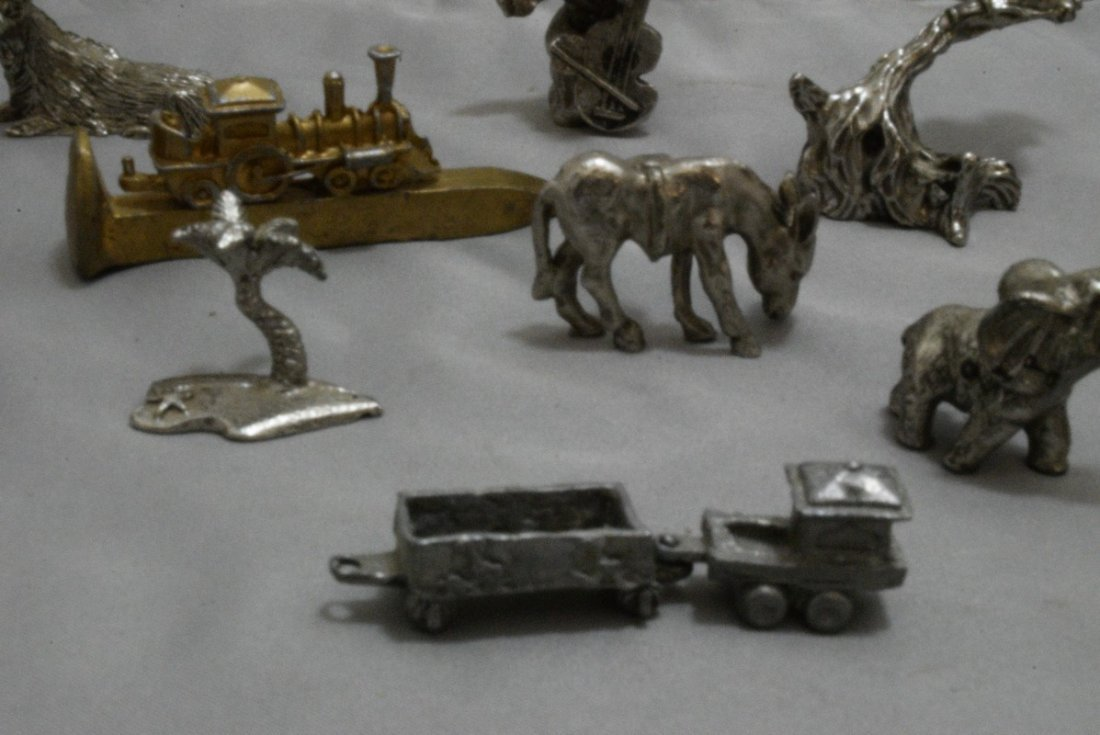 17 PEWTER AND COPPER MINIATURES - OLD WEST - ANIMA - 4