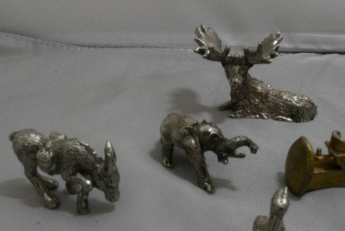 17 PEWTER AND COPPER MINIATURES - OLD WEST - ANIMA - 6