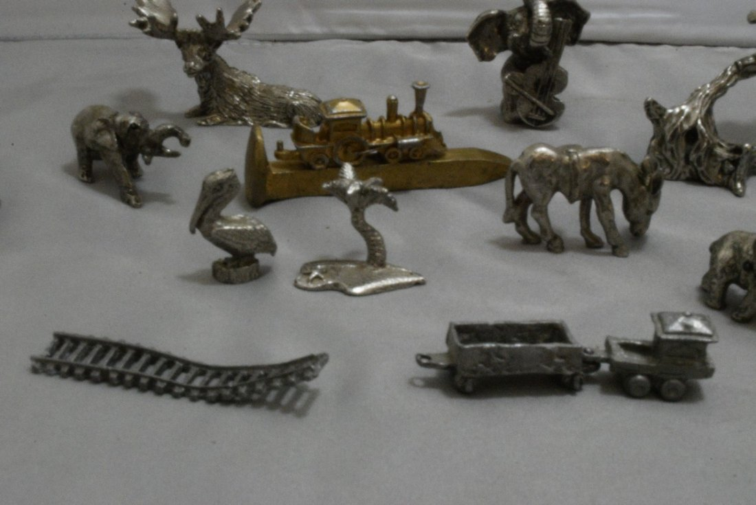 17 PEWTER AND COPPER MINIATURES - OLD WEST - ANIMA - 7