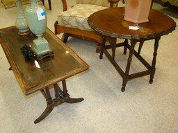 VINTAGE COFFEE TABLE AND DROP SIDE END TABLE
