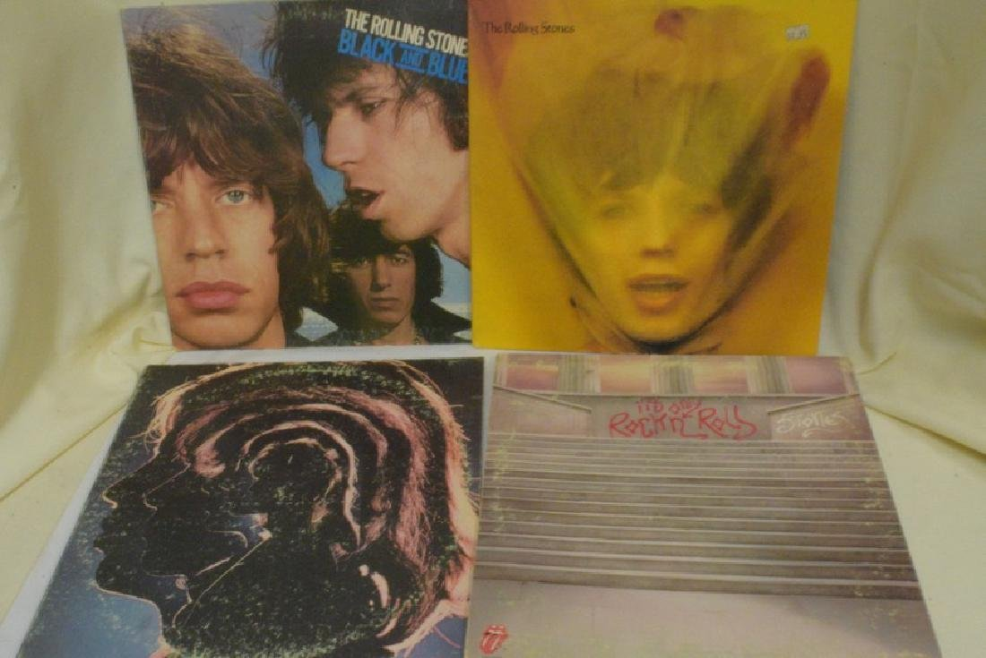 12 VARIOUS VINTAGE ROLLING STONES RECORD ALBUMS -