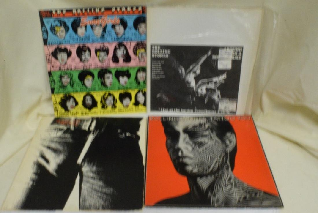 12 VARIOUS VINTAGE ROLLING STONES RECORD ALBUMS - - 2