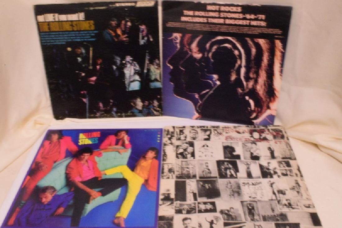 12 VARIOUS VINTAGE ROLLING STONES RECORD ALBUMS - - 3