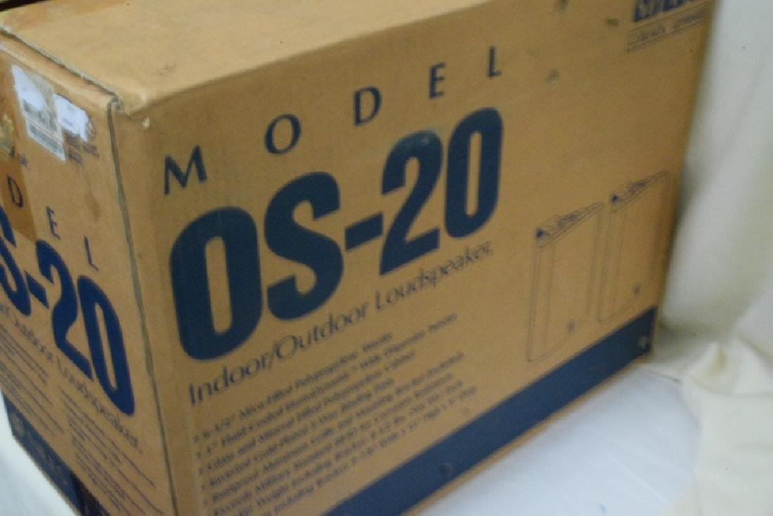 NIB NILES MODEL OS-20 PAIR OF INDOOR/OUTDOOR LOUDS - 2