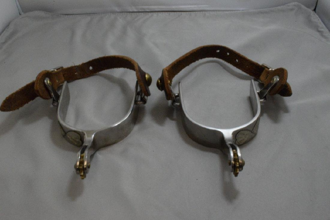 2 PAIRS OF MEN'S RIDING SPURS - 1 SET OF BRASS AND - 2