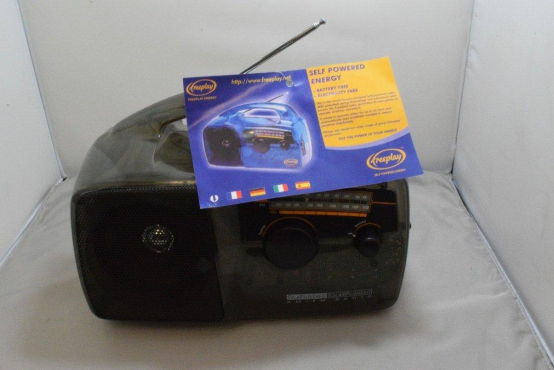 FREEPLAY SELF POWER SOLAR RADIO - TRANSPARENT COLO