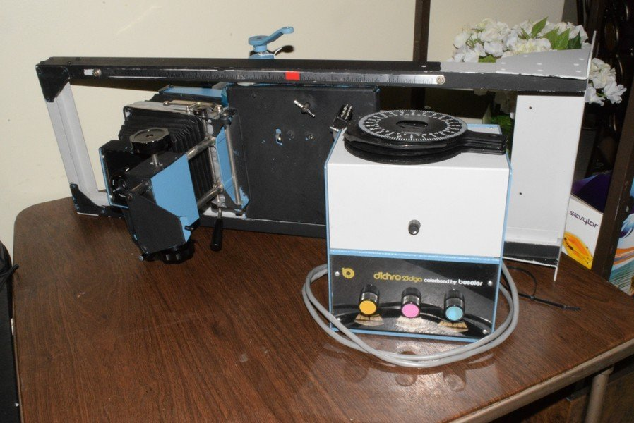 COLOR PHOTO ENLARGER - NO BRAND NAME AND A DICHRO