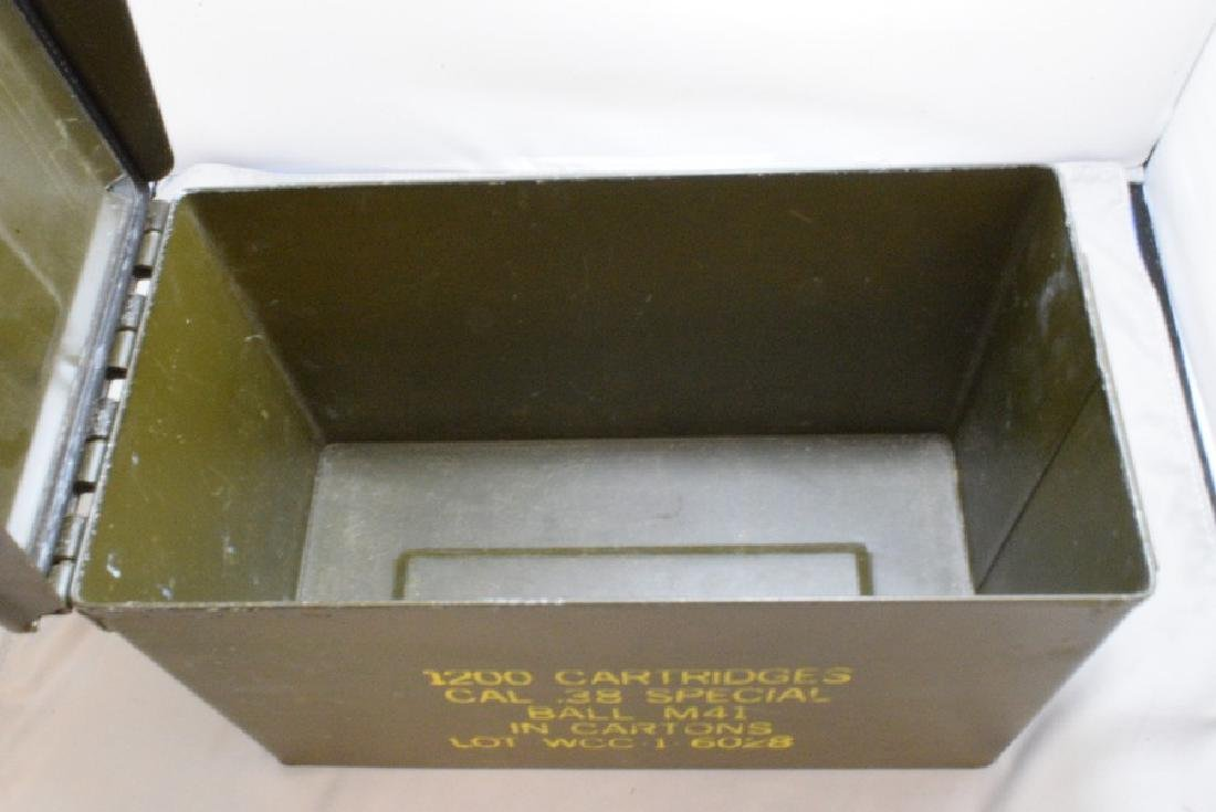 MILITARY AMMO BOX - 1200 CARTRIDGES CAL .38 SPECIAL - 5