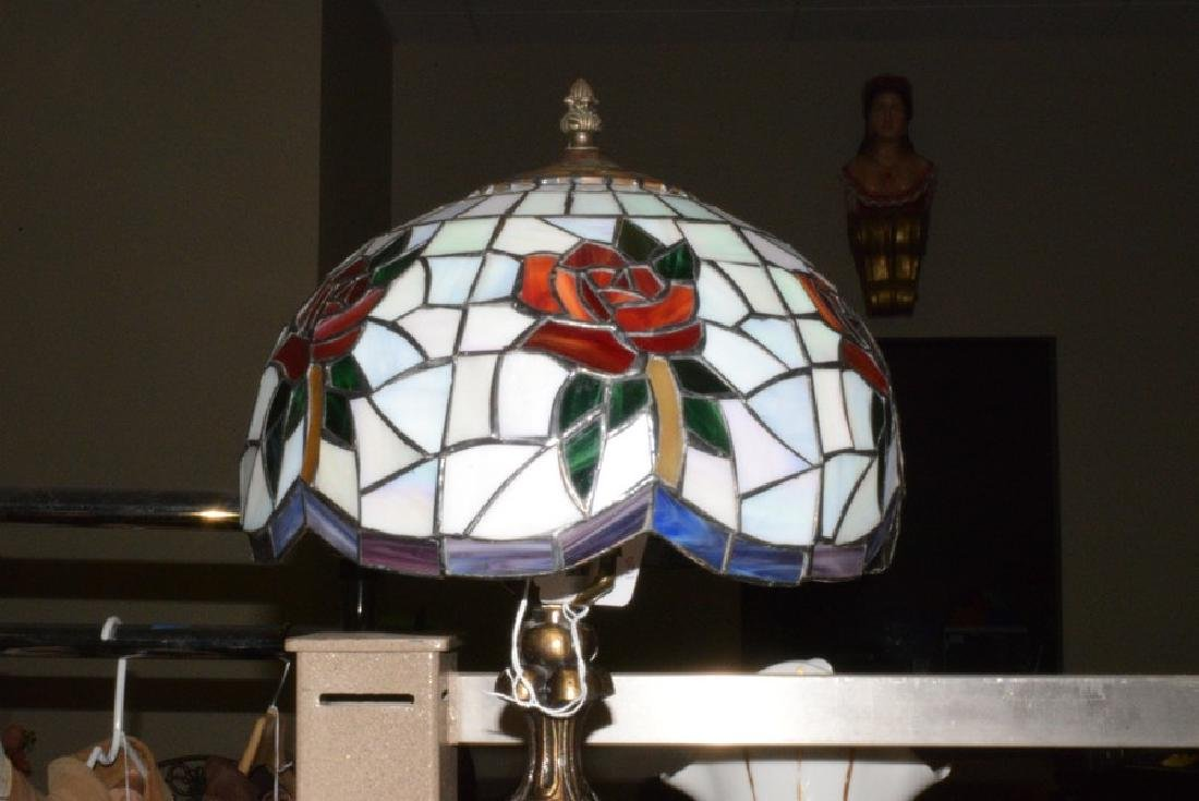 21.5'' TABLE LAMP - CAST METAL BASE - FAUX LEAD GL - 2