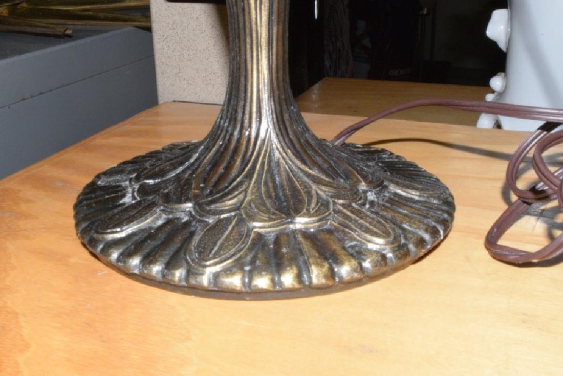 21.5'' TABLE LAMP - CAST METAL BASE - FAUX LEAD GL - 4
