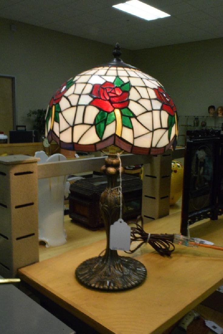 21.5'' TABLE LAMP - CAST METAL BASE - FAUX LEAD GL - 6