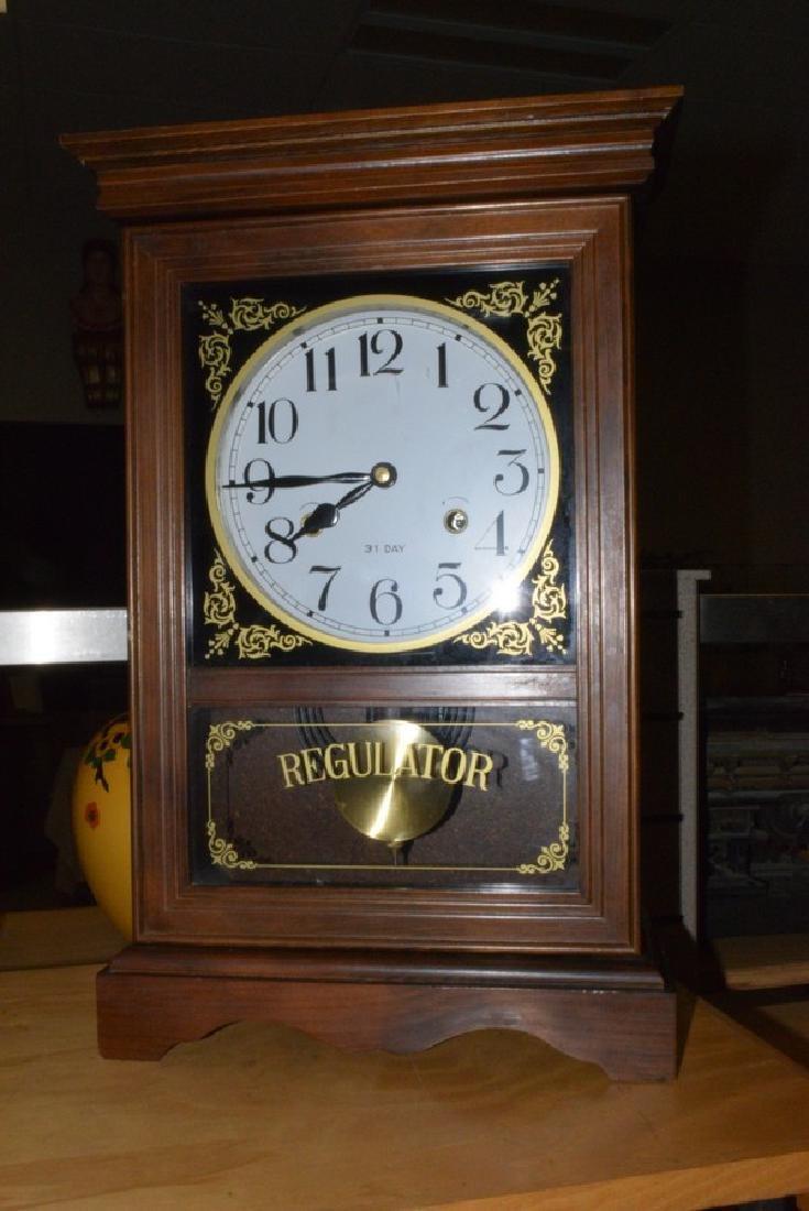 31-DAY KEY WIND REGULATOR CLOCK - NO KEY - DARK ST