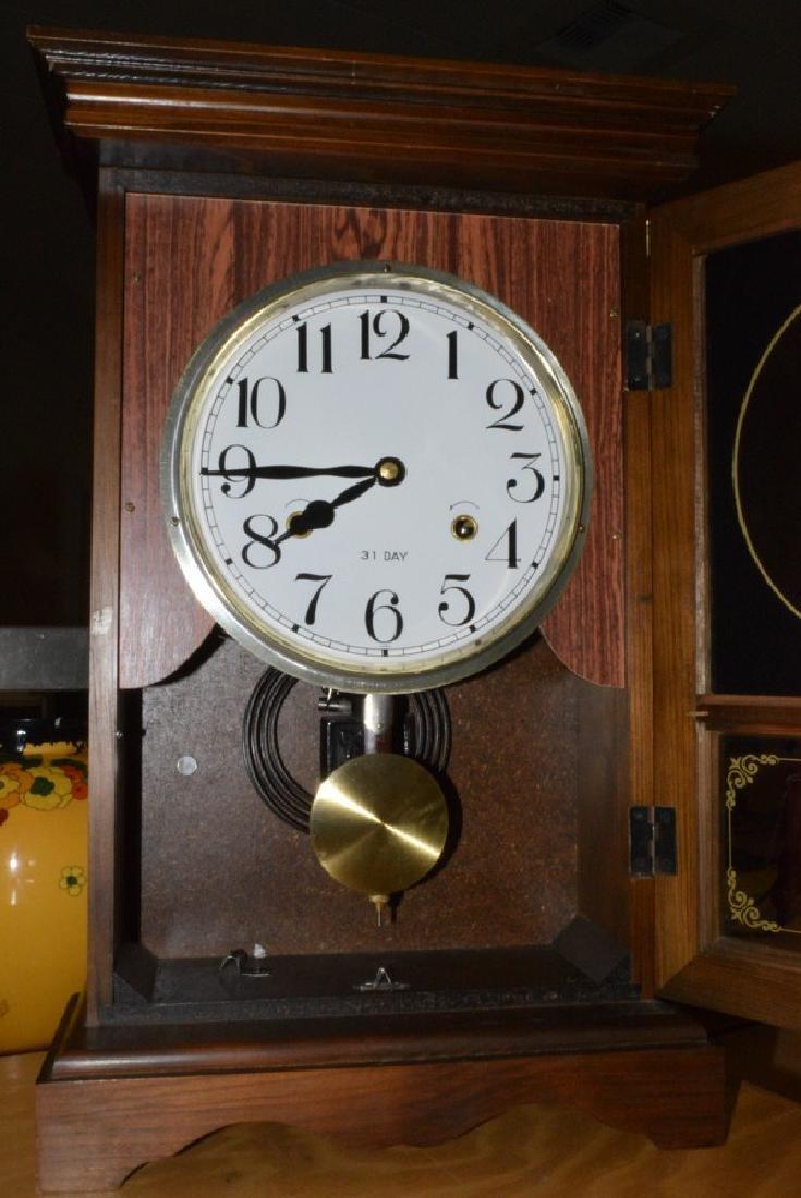 31-DAY KEY WIND REGULATOR CLOCK - NO KEY - DARK ST - 4