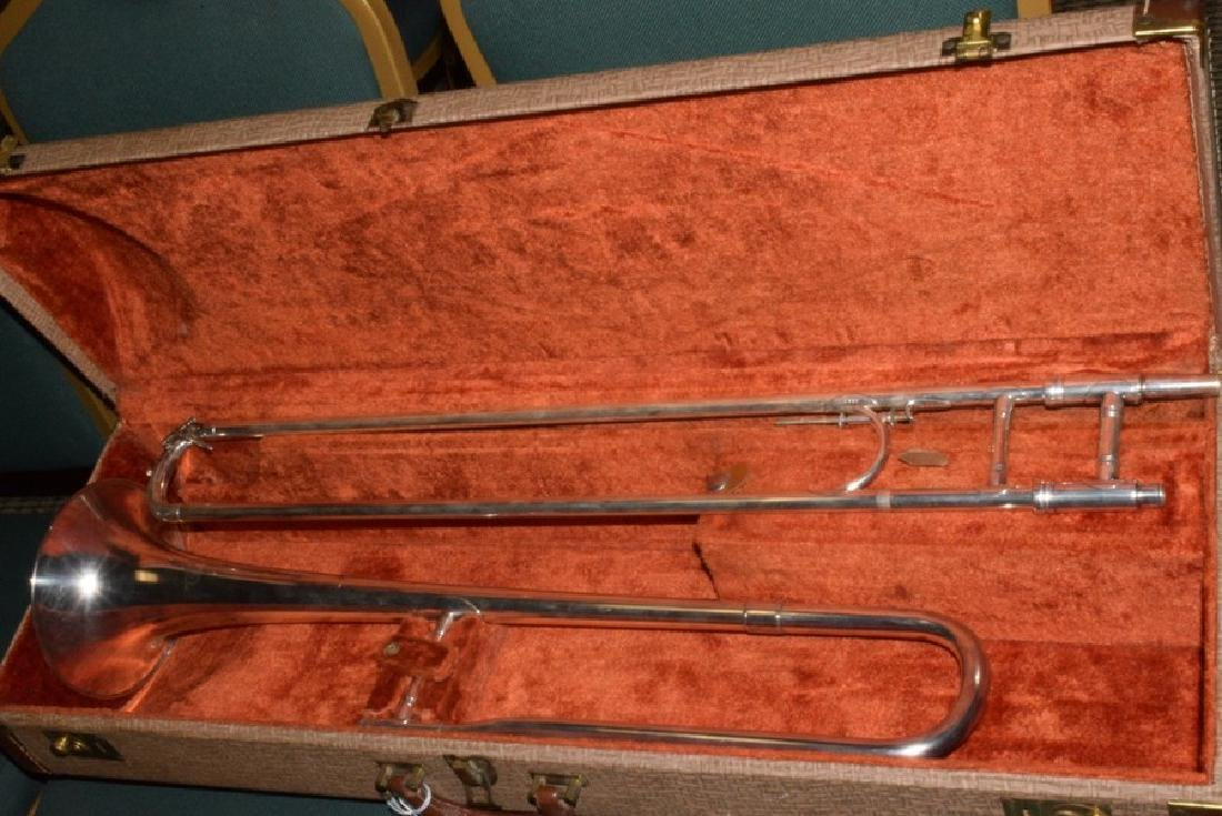 1912 F E OLDS & SON SILVER ENGRAVED TROMBONE IN CA