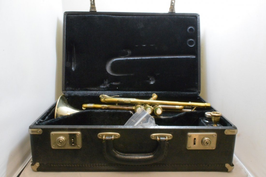 VINTAGE F.E. OLDS & SONS TRUMPET - WHITE, CONN AND