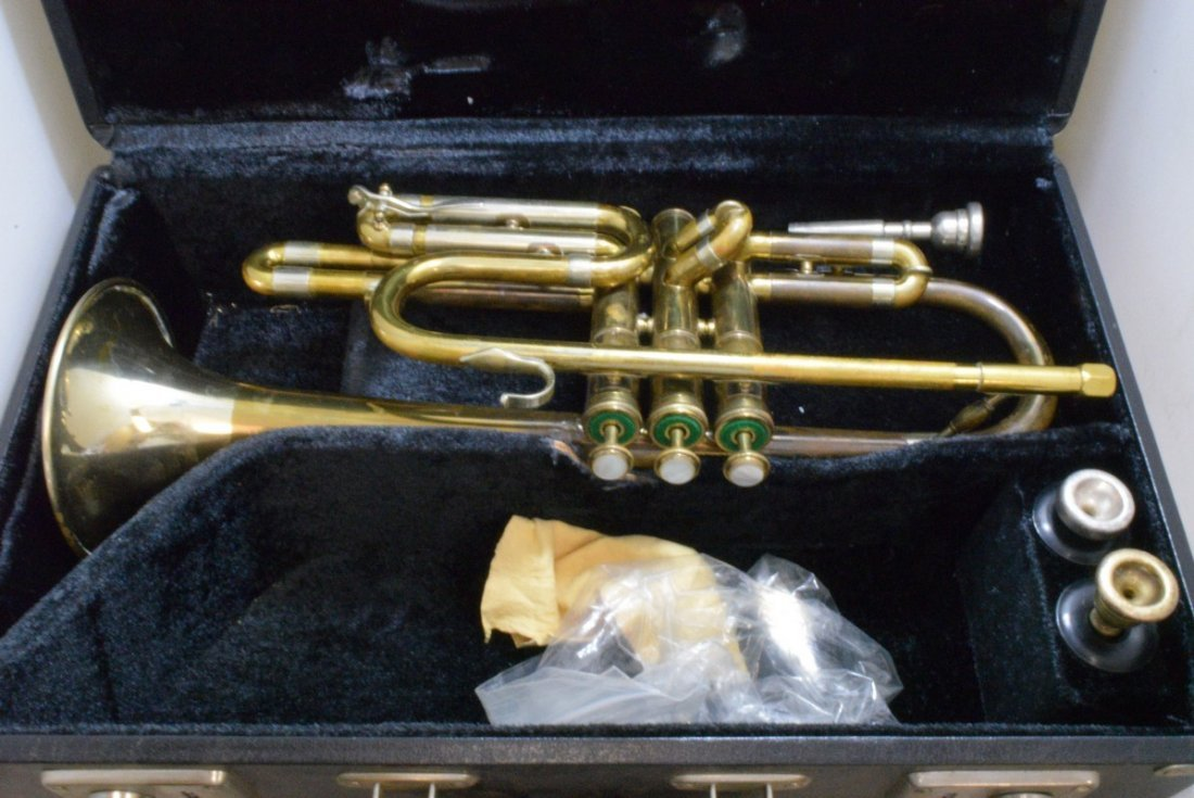 VINTAGE F.E. OLDS & SONS TRUMPET - WHITE, CONN AND - 2
