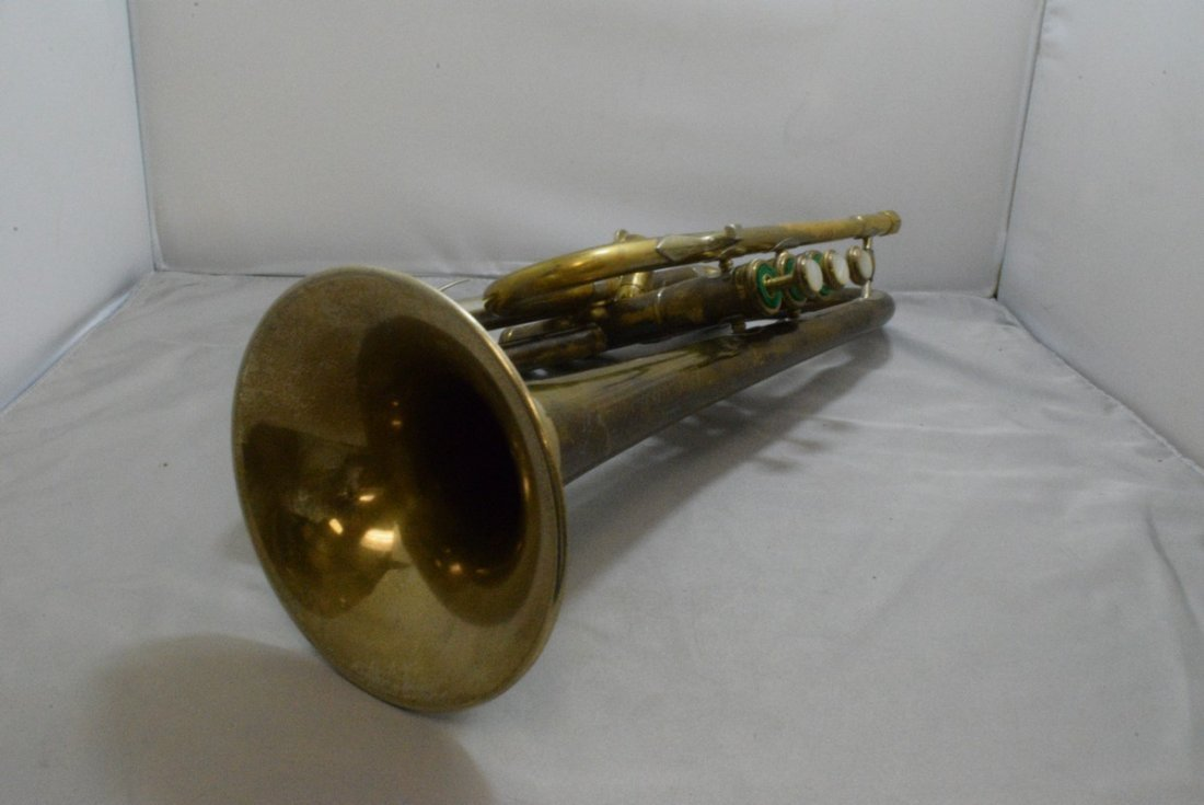 VINTAGE F.E. OLDS & SONS TRUMPET - WHITE, CONN AND - 5