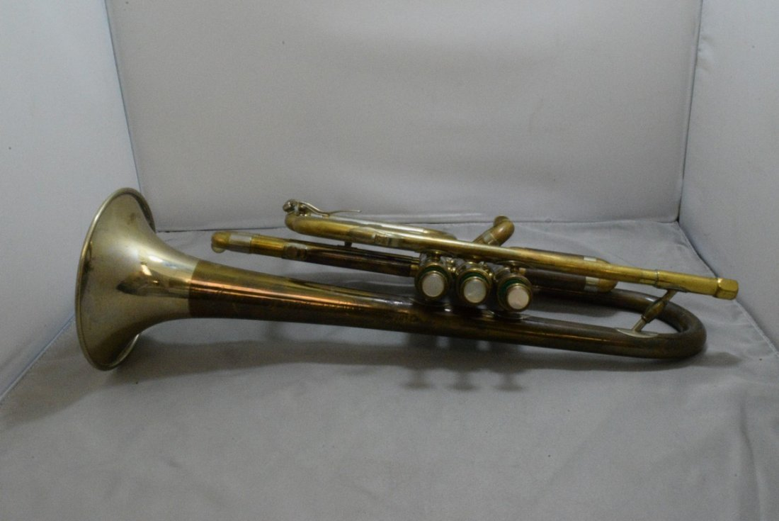 VINTAGE F.E. OLDS & SONS TRUMPET - WHITE, CONN AND - 6