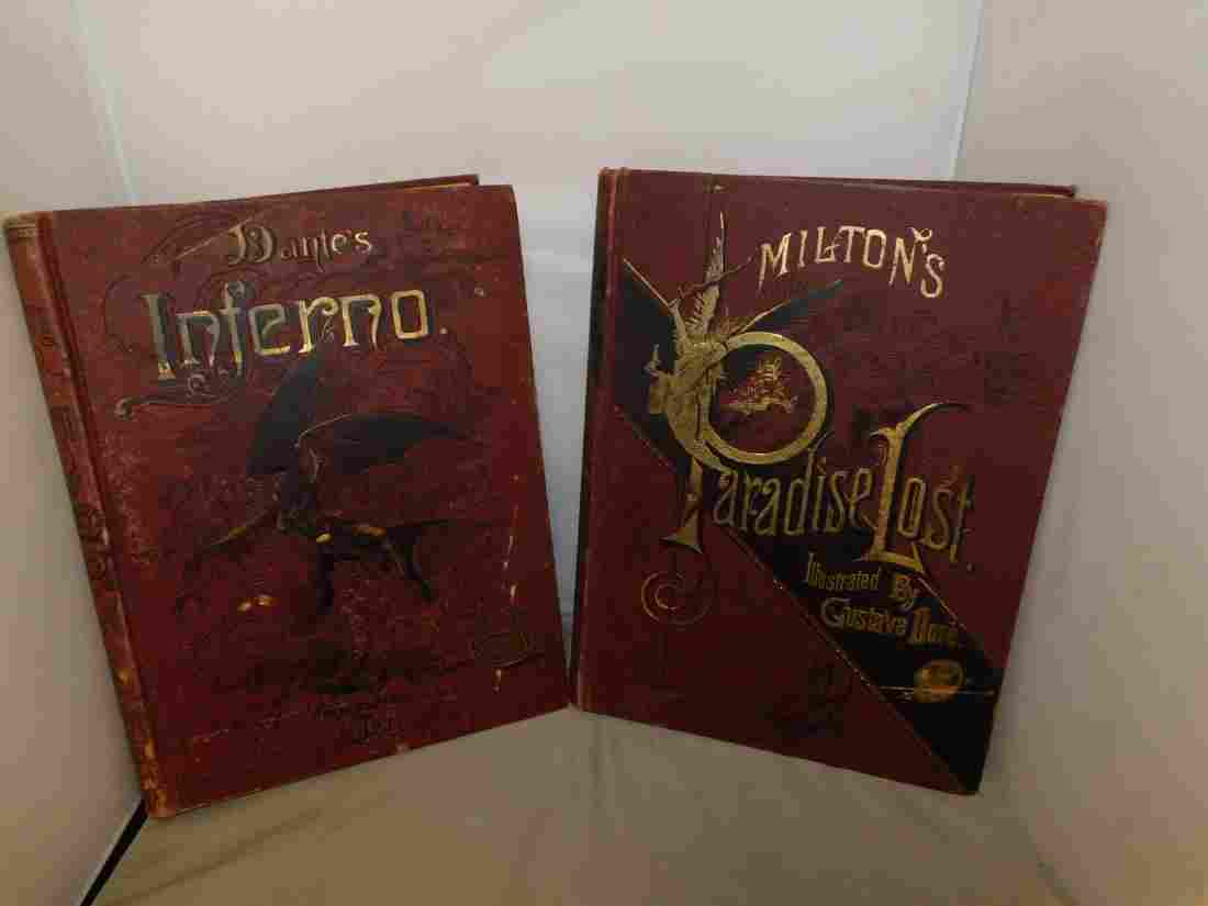 2 C1880'S COLLECTOR BOOKS - DANTE'S INFERNO  AND M
