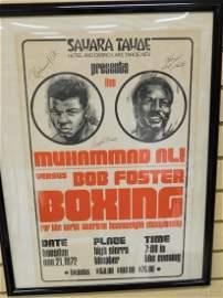 RARE ORIGINAL SIGNED MAHAMMAD ALI & BOB FOSTER BOX