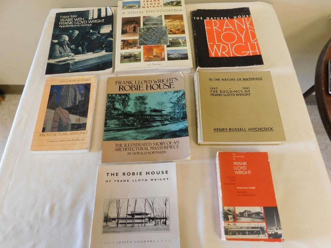 8 BOOKS ON FRANK LLOYD WRIGHT