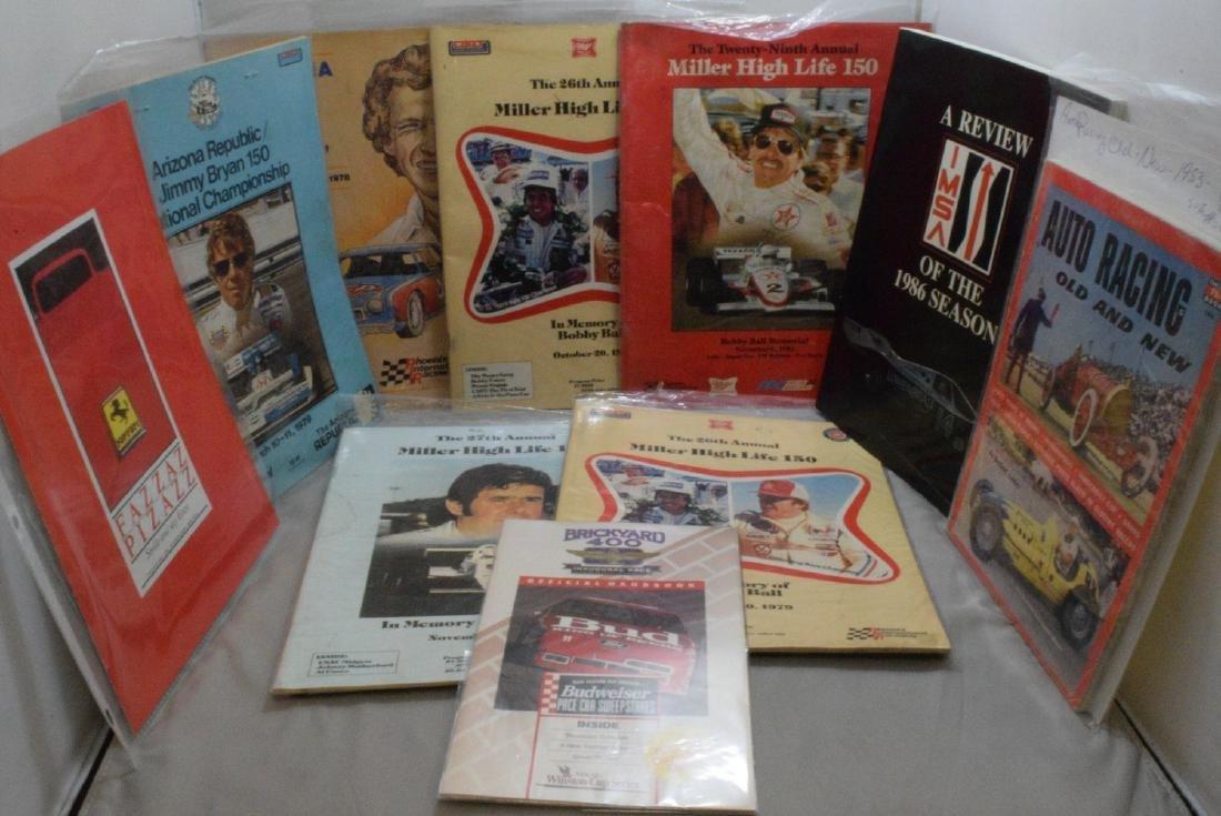 Auto Racing Programs Stock Car & Indy Car