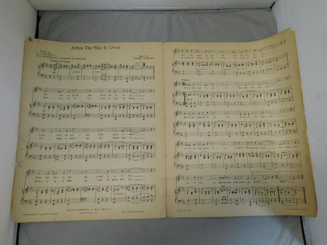 Sheet Music and 1900's Holiday Cards - 6