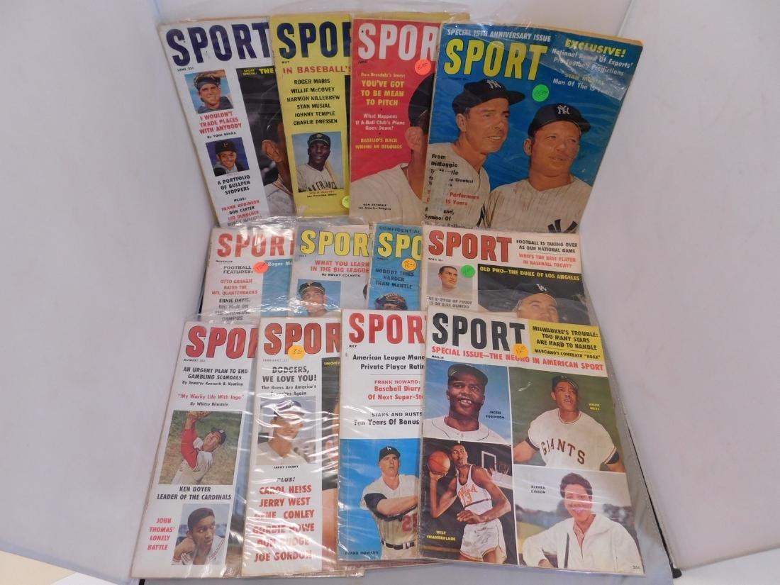 SPORT magazine 1960-61 HoF Covers