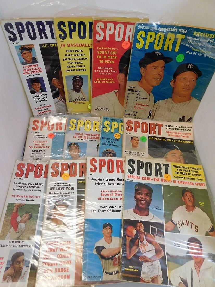 SPORT magazine 1960-61 HoF Covers - 2